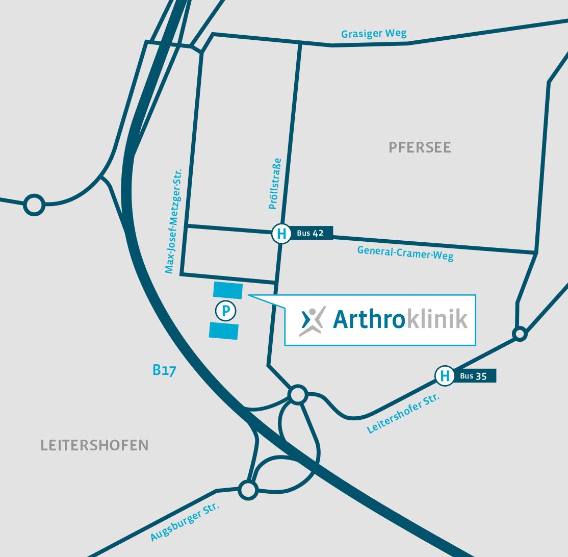 Arthroklinik Lageplan Sheridanpark